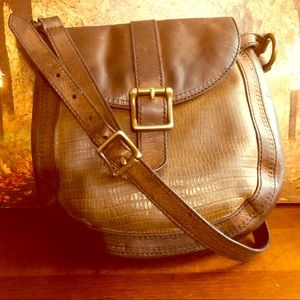Fossil brown leather crossbody small bag